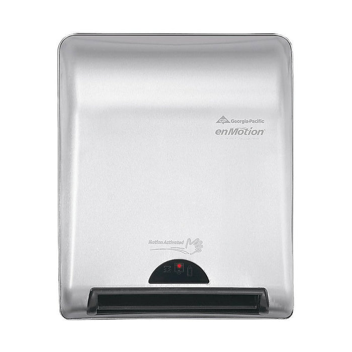 "GP PRO enMotion 8"" Recessed Automated Touchless Paper Towel Dispenser, Silver"