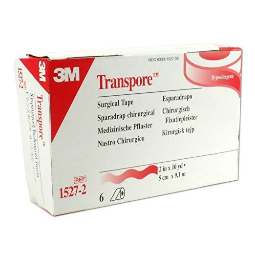 "3M Transpore Surgical Tape 2"" x 10 yd - Box of 6"
