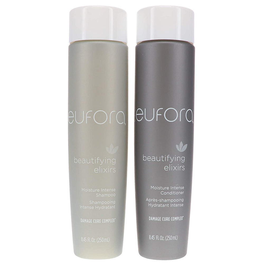 Eufora Beautifying Elixirs Moisture Intense Shampoo and Conditioner, 8.5 Ounce