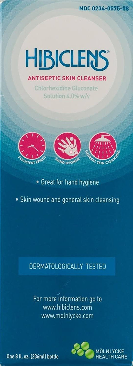 Molnlycke Hibiclens Antimicrobial Skin Liquid Soap, 8 Fluid Ounce