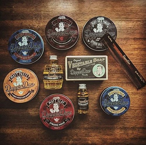 Heavy Hold Pomade By Dapper Dan, Superior Hold, Petrolatum Free, No Build Up, Liquorice & Vanilla Fragrance 100ml