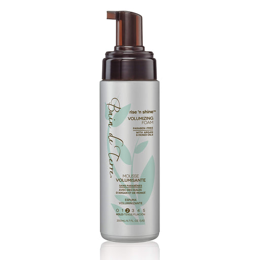 Bain de Terre Rise 'n Shine Volumizing Foam, with Argan & Monoi Oils, Paraben-Free, 6.7-Ounce