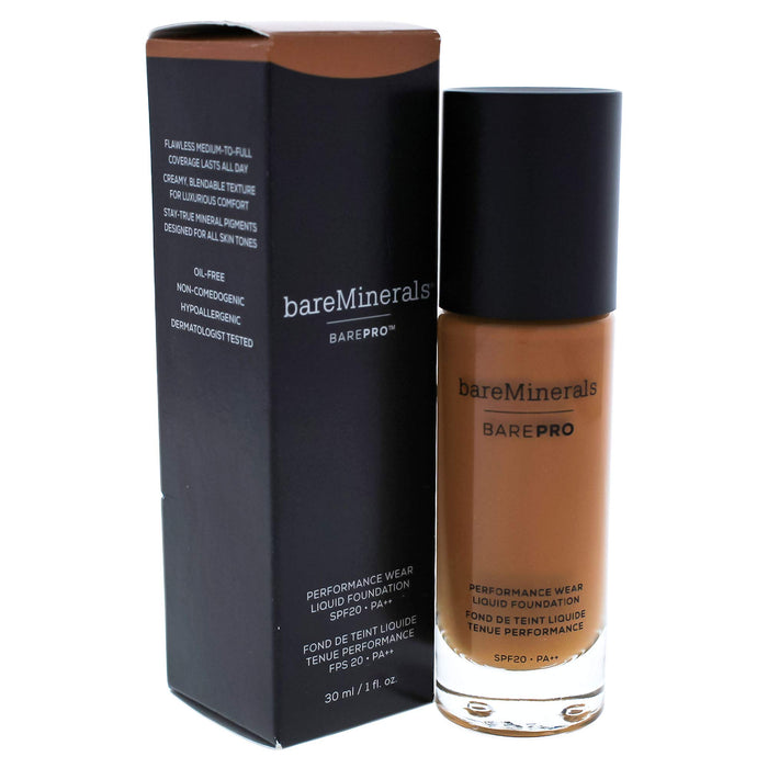 bareMinerals Barepro Performance Wear Liquid Foundation Spf 20, 27 Cappuccino, 1 Ounce