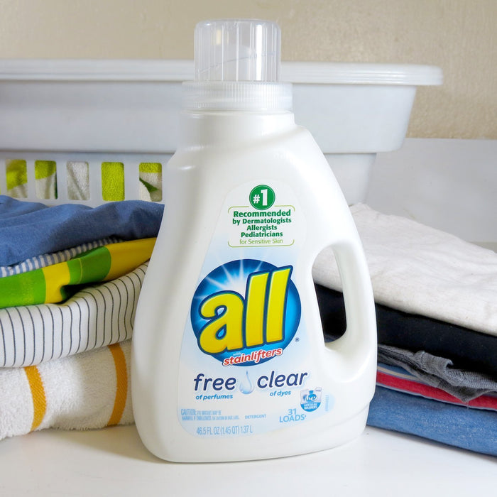 all Stainlifter Laundry Detergent, Free Clear, 31 Loads, 46.5 Ounce (Pack of 2)