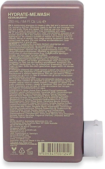Kevin Murphy Hydrate Me Wash Kakadu Plum Infused Moisture Delivery Shampoo for Coloured Hair 8.4 oz