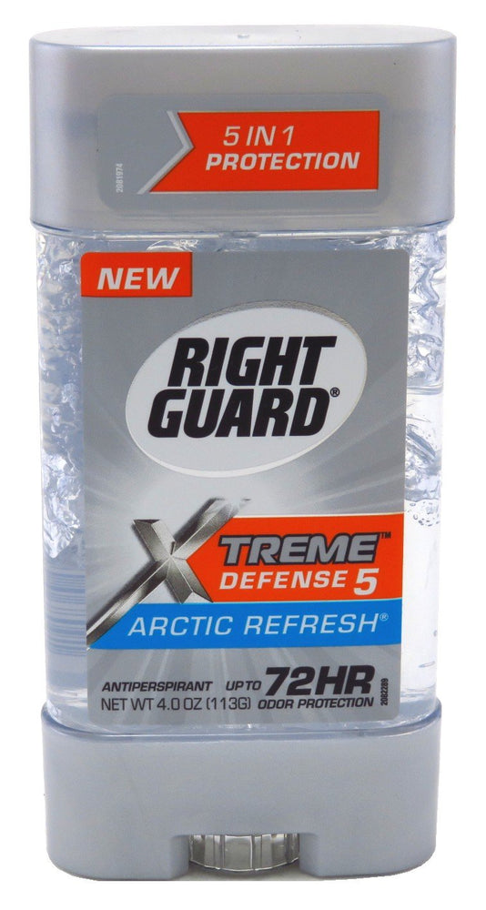Right Guard Total Defense 5 Power Gel, Antiperspirant and Deodorant, Artic Refresh 4 Ounce (Pack of 3)