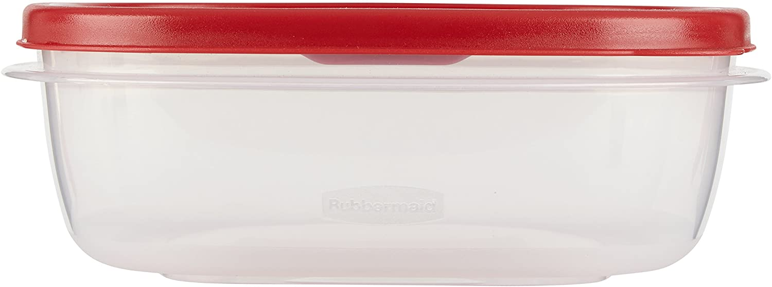 Rubbermaid Easy Find Lid 6 Piece Food Storage Container Set, Red
