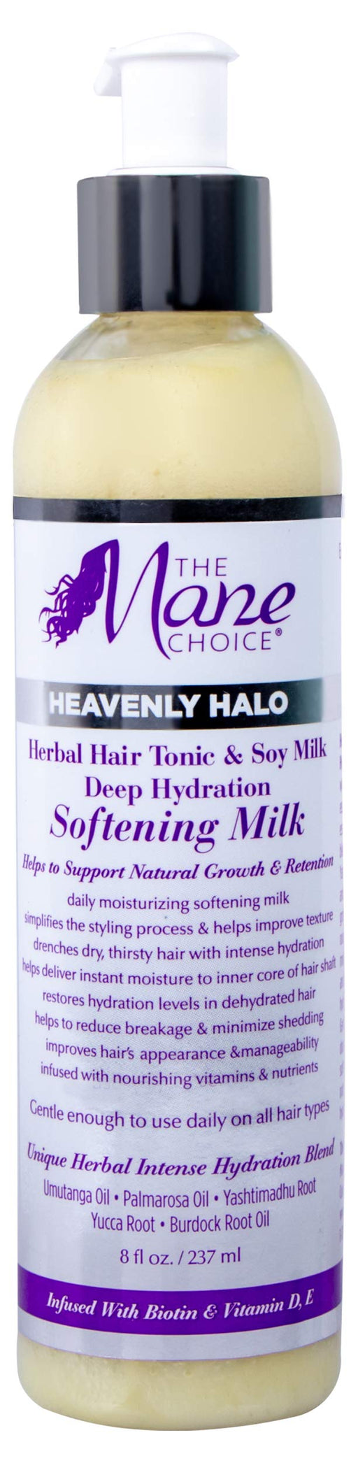 The Mane Choice Heavenly Halo Herbal Hair Tonic & Soy Milk Deep Hydration Softening Milk 8 fl oz, pack of 1