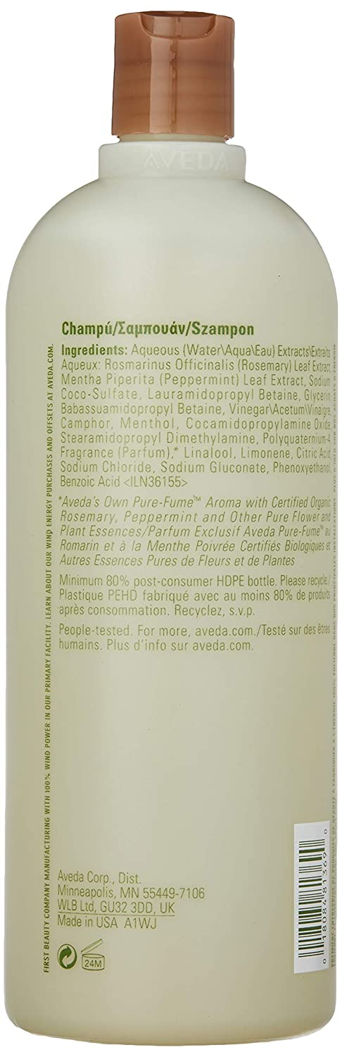 Aveda Rosemary Mint Shampoo, 33.8-Ounce Bottles