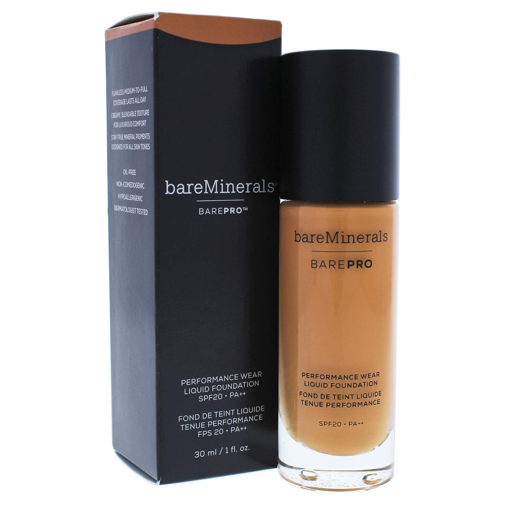 bareMinerals Barepro Performance Wear Liquid Foundation SPF 20 for Women, 26 Chai, 1 Ounce