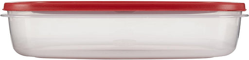 Rubbermaid Easy Find Lids Food Storage Container, 1.5 Gallon, Racer Red 1777163