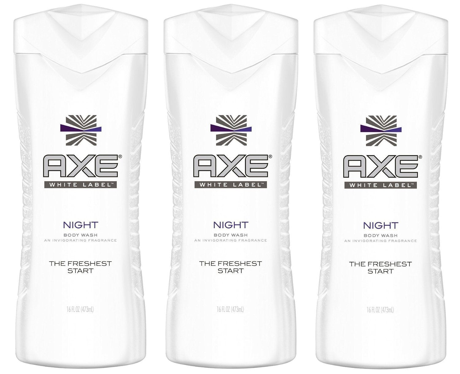 Axe White Label Body Wash, Night, 16 Ounce (Pack of 3)