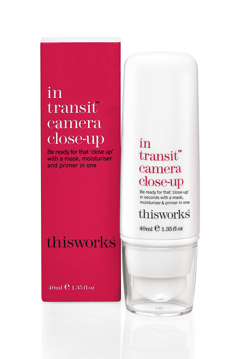 ThisWorks In Transit Camera Close-Up - A Mask, Moisturiser and Primer All-in-One for a Long Lasting Perfect Make Up Finish 40 milliliters