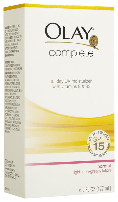 Olay Complete All Day UV Moisturizer, SPF 15, Normal Skin - 6 oz