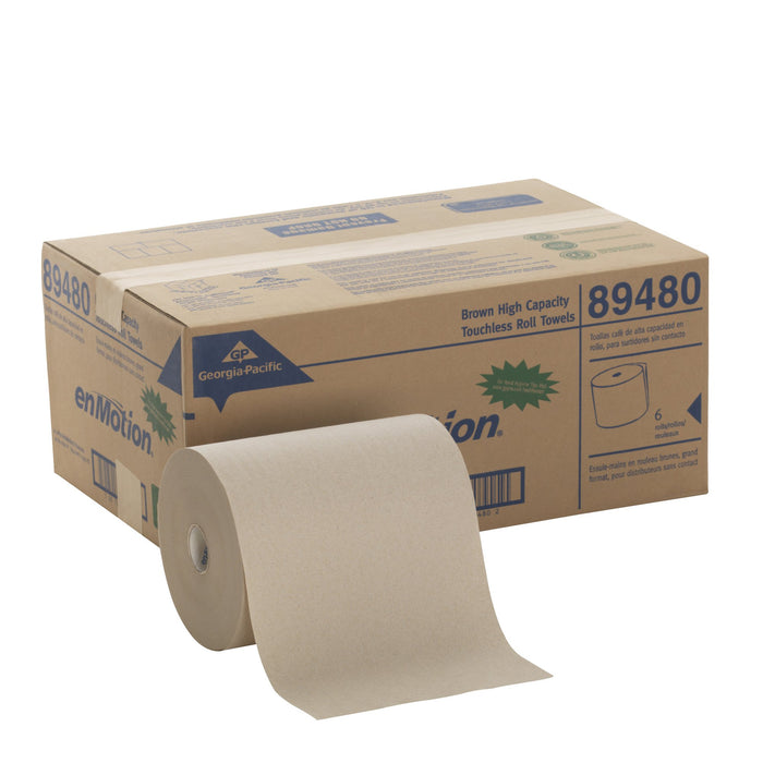 "Georgia Pacific Professional 89480 High Capacity Roll Towel, Brown, 10"" x 800ft (Case of 6 Rolls)"