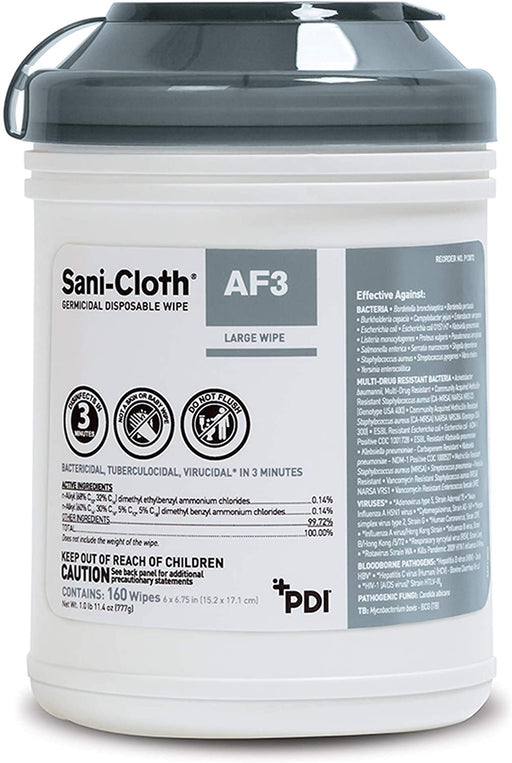 PDI Sani-Cloth AF3 Germicidal Disposable Wipes