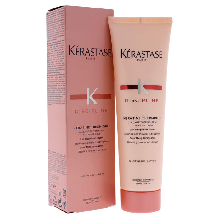 Kerastase Discipline Keratine Thermique Smoothing Taming Milk Anti-Frizz, 5.1 Ounce