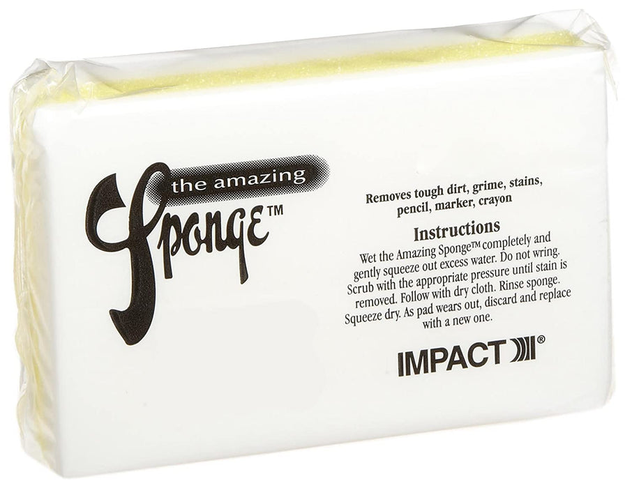 "Impact 7150 Yellow White The Amazing Sponge Magic Eraser Pad, 4-1/2"" Length x 2-3/4"" Width x 1-1/2"" Height (Case of 30)"