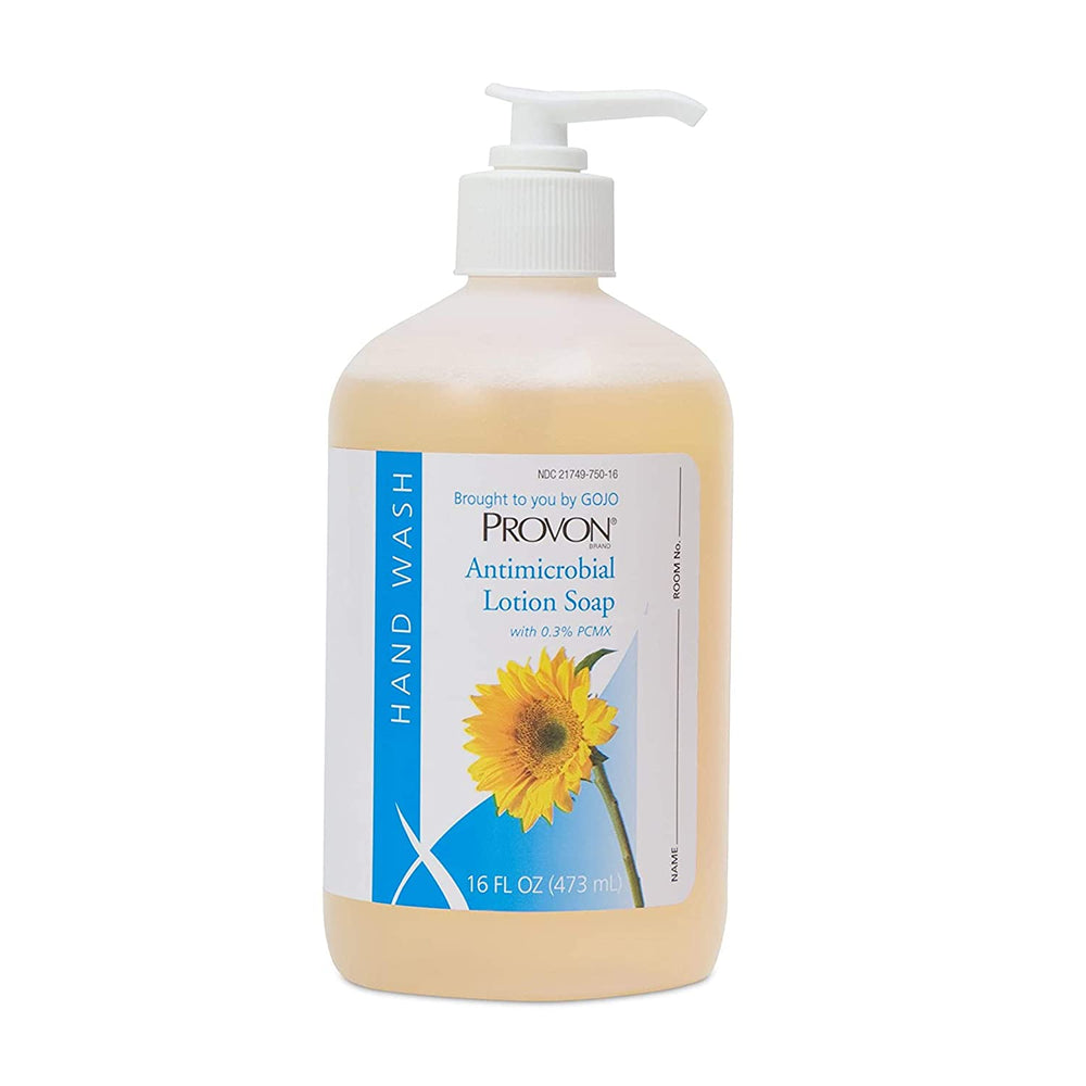 PROVON® Antimicrobial Lotion Soap with 0.3% PCMX, 16 fl oz Pump Bottle - Case of 12