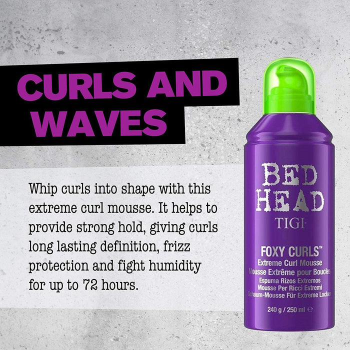 TIGI Bed Head Foxy Curls Extreme Curl Mousse, 8.45 oz