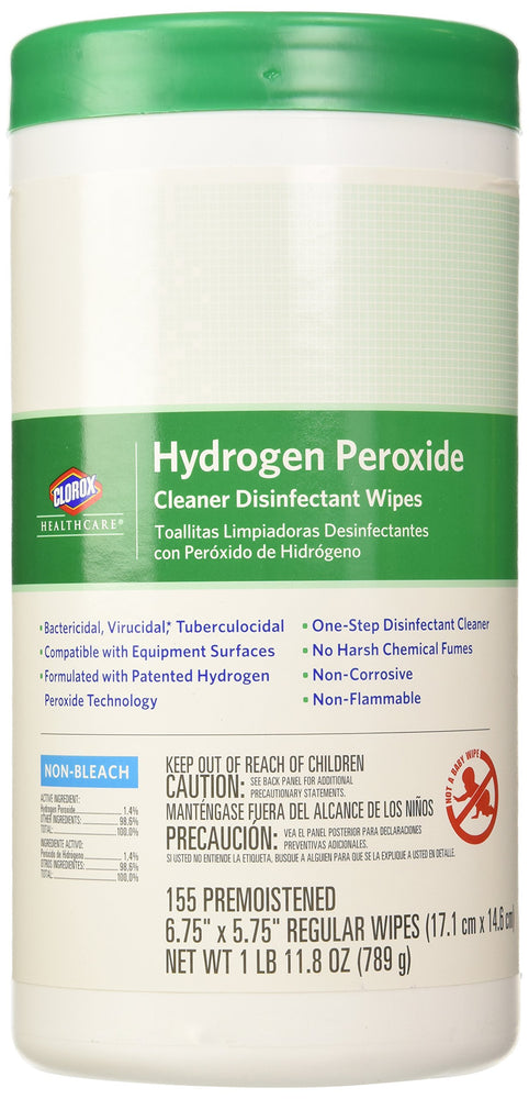 Clorox Healthcare Hydrogen Peroxide Cleaner Disinfectant Wipes 11.8 oz