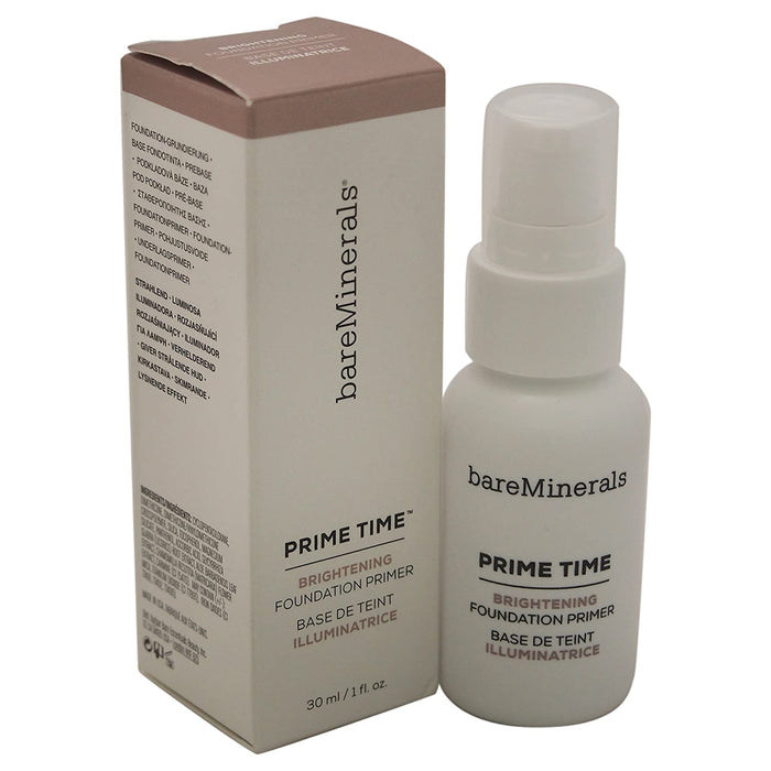 bareMinerals Prime Time Brightening Foundation Primer for Face, 1 Ounce