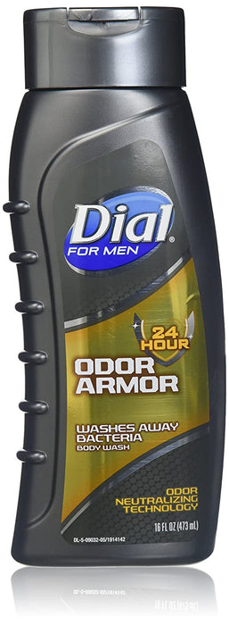 Dial Men's Odor Armor Body Wash, 16 Fluid Ounces (Pack of 2)