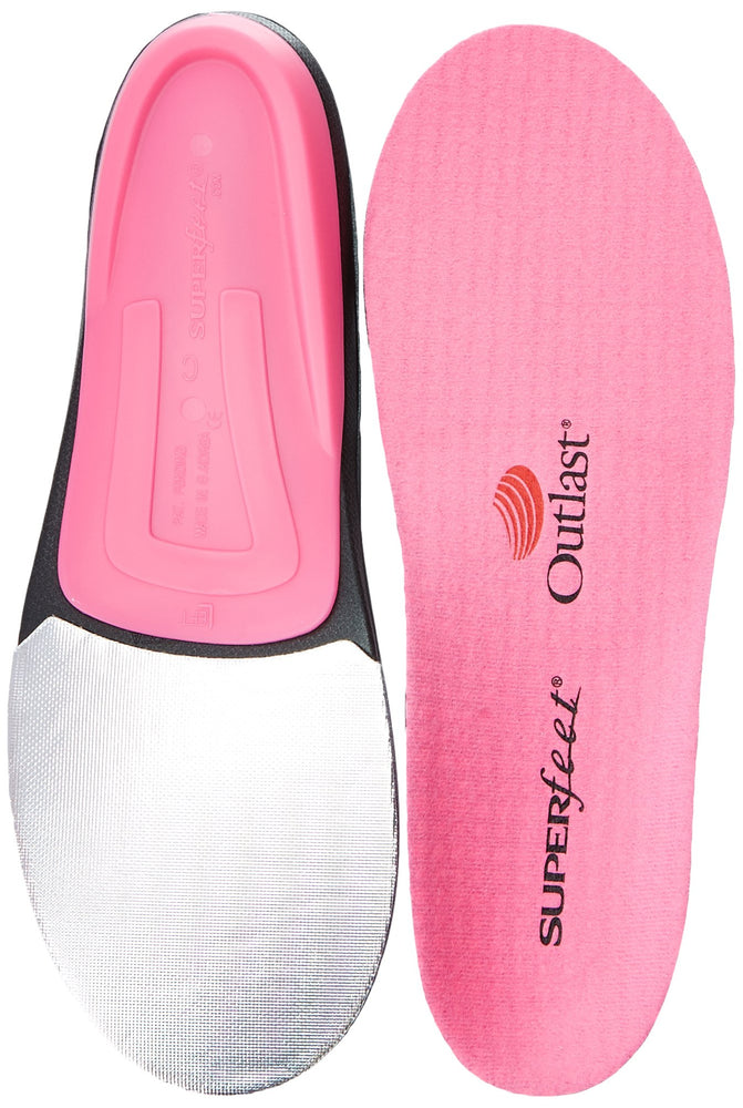 Superfeet hotPINK Women's Insoles for Ski Snowboard and Snow Sports for Foot Warmth Comfort and Performance, Womens, Pink
