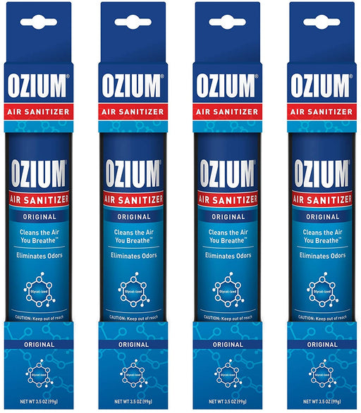 Ozium 3.5 Oz. Air Sanitizer & Odor Eliminator for Homes, Cars, Offices and More, Original Scent, 4 Pack