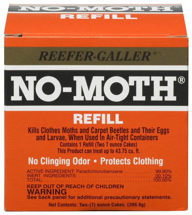 Reefer-Galler NO MOTH Closet Hanger Refill Kills Clothes Moths, Carpet Beetles, and Eggs and Larvae
