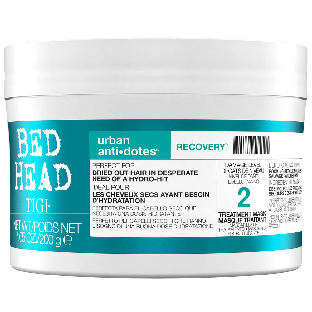 TIGI Bed Head Urban Antidotes Recovery Treatment Mask for Unisex, 7.05 Ounce