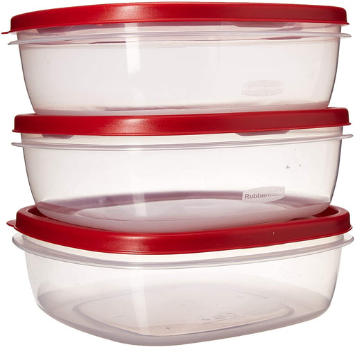 Rubbermaid 7J94 Easy Find Lid Food Value Pack Storage Containers