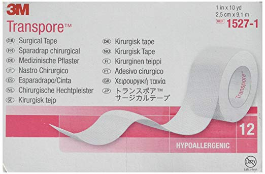 "3M Transpore Surgical 1"" x 10 yd - Box of 12"