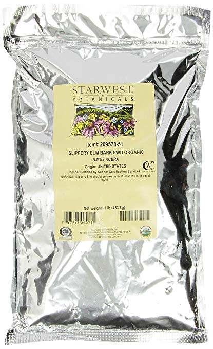Starwest Botanicals Organic Slippery Elm Bark Powder, 1 lb