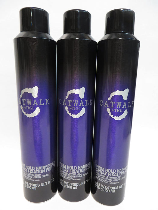 Catwalk Firm Hold Hair Spray 9 Ounce (Pack of 3)