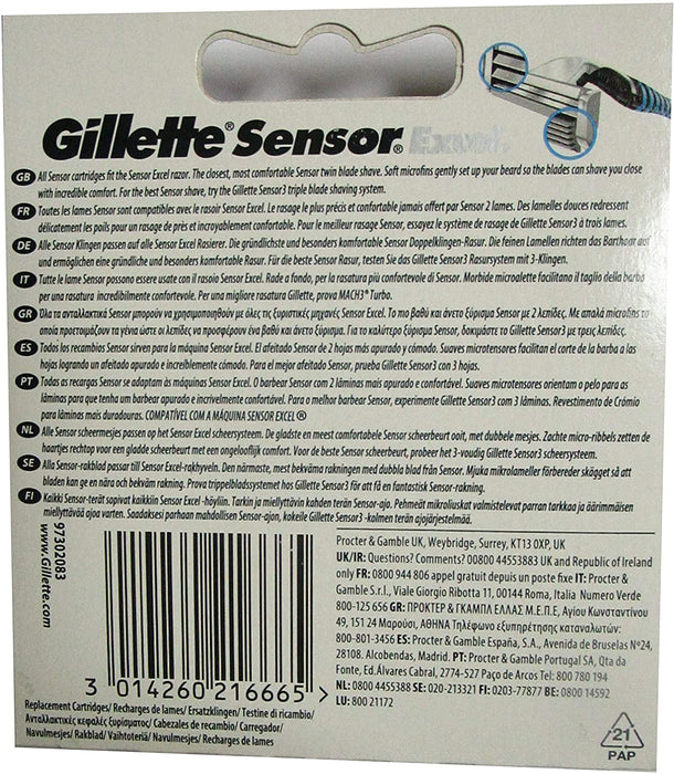 Gíllette Sensor Excel Razor Refill Cartridges 20 Count