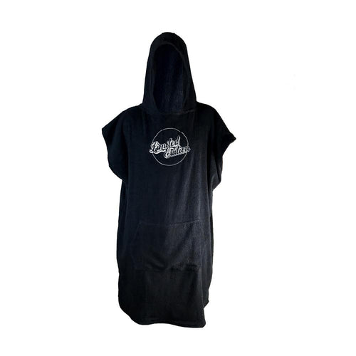 Limited Edition Poncho Towel - Black and White - Nomad Bodyboards
