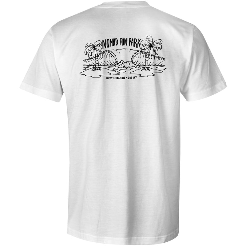 Nomad Fun Park T-Shirt - White - Nomad Bodyboards