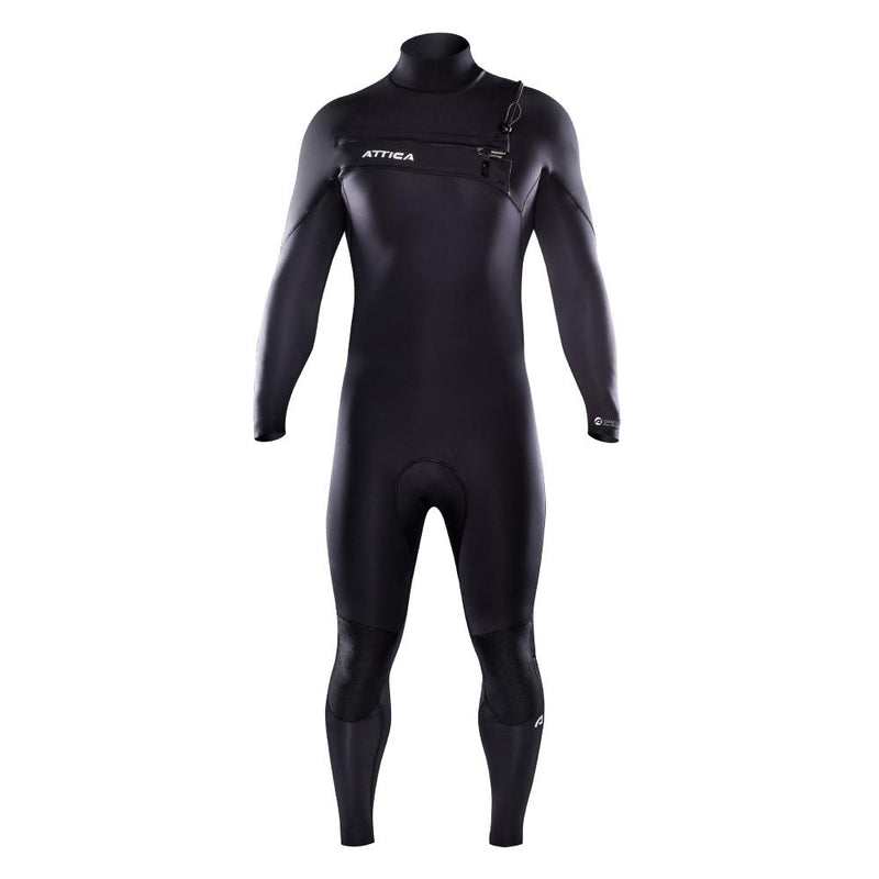 OMEGA Chest Zip 3/2mm Steamer - BLACK / SILVER - Nomad Bodyboards