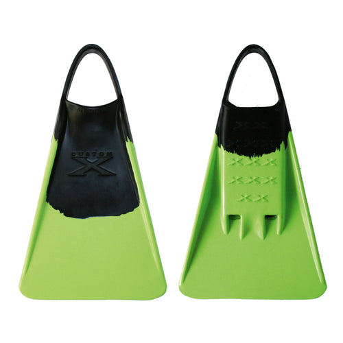 X FIN - Black / Lime - Nomad Bodyboards