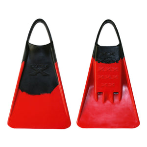 X FIN - Black / Red - Nomad Bodyboards
