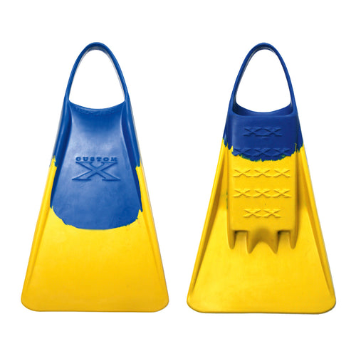 X FIN - Blue / Yellow - Nomad Bodyboards