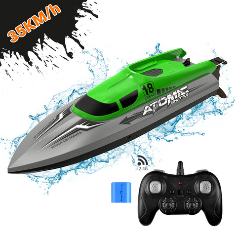 ALLCACA 2.4GHz Racing Boat High Speed Water Speed Boat Remote Control Electric RC Boat for Kids, Adults - ALLCACA