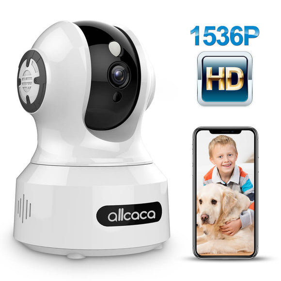 ALLCACA 1536P IP Camera Wireless Smart Home Camera Security Camera for Babies, Elderly and Pets - ALLCACA