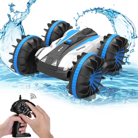 ALLCACA 2.4G RC Car Boat Land Water RC Stunt Car Double Sided Remote - ALLCACA