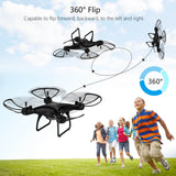 ALLCACA 2.4GHz RC Quadcopter 6-axis Gyro Remote Control Drone Quadcopters with Altitude Hold Mode, 3D Flip, Headless Mode and One-key Return, Black - ALLCACA