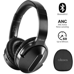 ALLCACA Active Noise Cancelling Headphones On-ear Headphones Adjustable Headsets for Mobile Phone, Laptop, Tablet, Computer - ALLCACA
