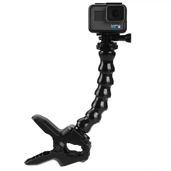 ALLCACA Gopro Clamp Mount Jaws Flex Clamp Mount for Gopro, Black - ALLCACA