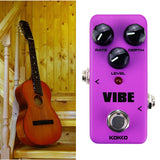 ALLCACA Guitar Vibe Pedal Mini Guitar Effect Pedal Portable True Bypass Pedals, Powered by AC Adapter, Purple - ALLCACA