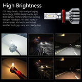 ALLCACA H11/H9/H8 LED Headlight Bulbs - 8000LM 6000K Cool White 12x CSP Chips Conversion Kit (All-in-One) - ALLCACA